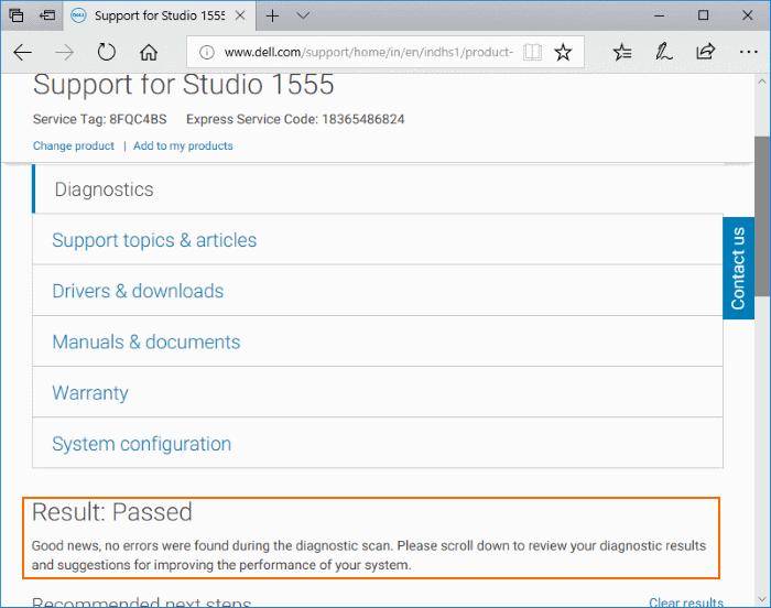 Check Dell PC for CPU, RAM, SSD Errors (5)