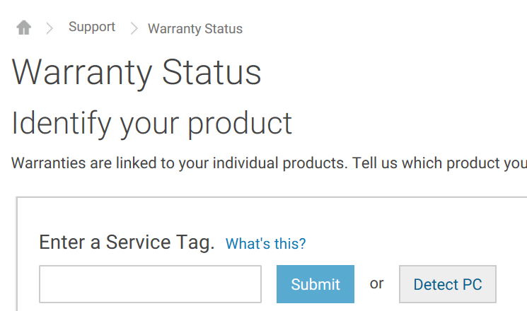 Check dell laptop warranty status online pic1