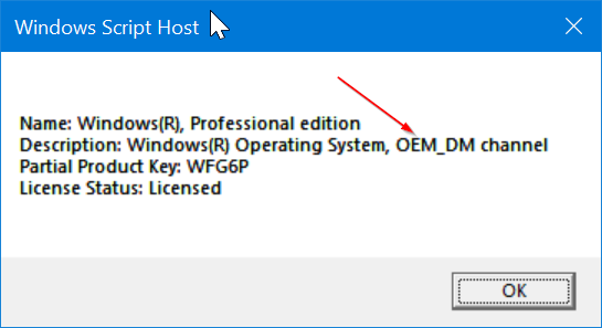 Check if Windows 10 license type is retail, oem or volume pic2