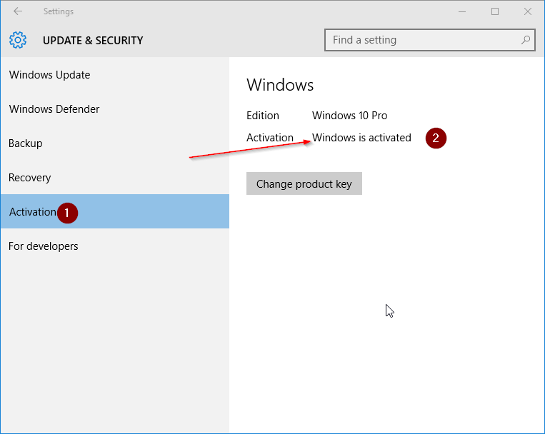 Check if your Windows 10 is activated step6