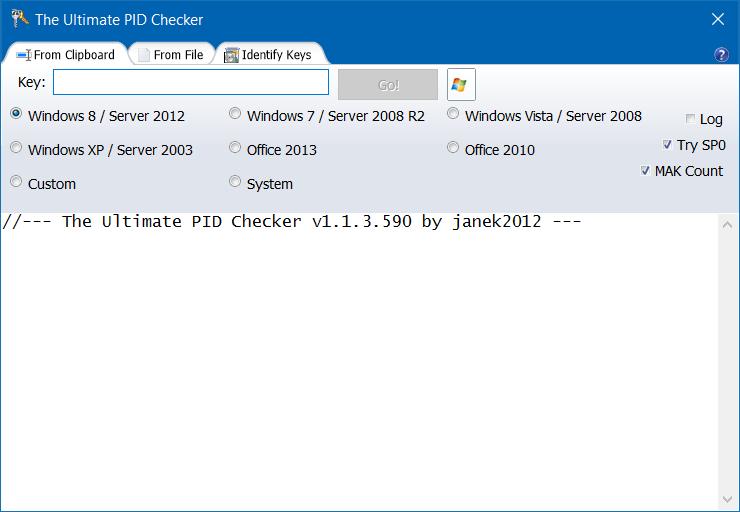 Comprobar versión y edición de Windows una clave de producto pertenece a pic3