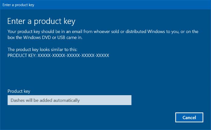 Comprobar la versión y edición de Windows a la que pertenece una clave de producto