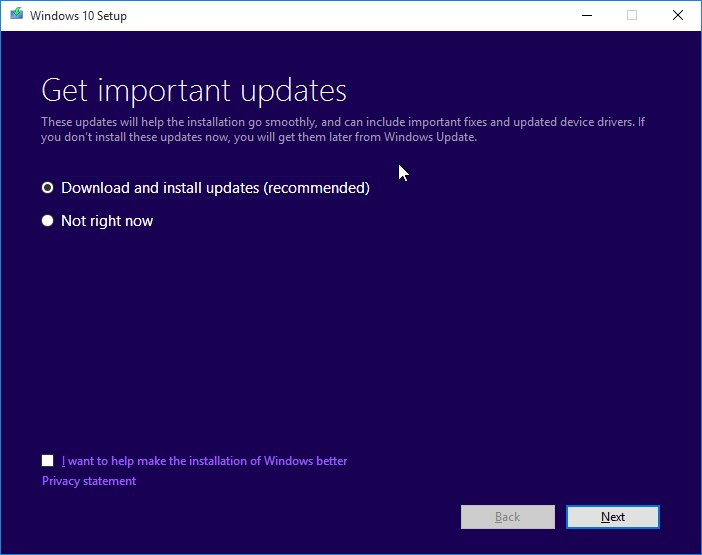 Clean install Windows 10 from ISO file step3