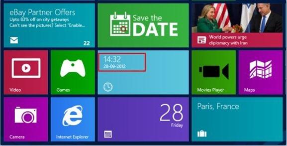 Clock for Windows 8 Start Screen
