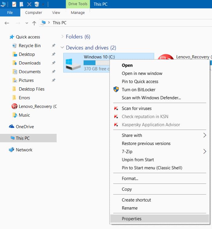 Comprimir archivos y carpetas de instalación de Windows 10 step6