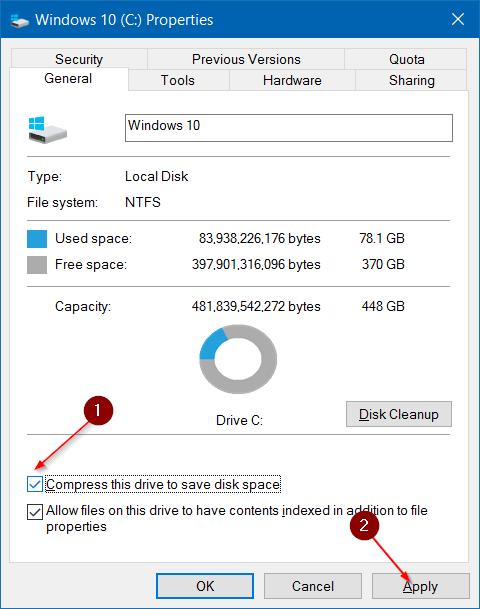 Comprimir archivos y carpetas de instalación de Windows 10 step7