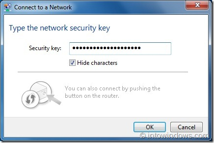 Connect Windows 7 Wireless Network Step3