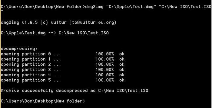 Convertir DMG a ISO en Windows step4