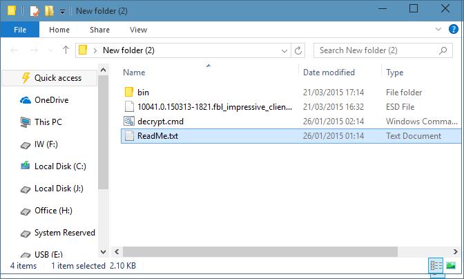 Convertir archivo ESD de Windows 10 a ISO