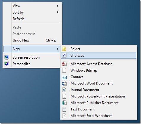 Create All Programs Shortcut On Windows 8 Desktop