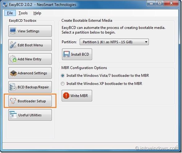 Crear unidad flash USB de inicio con EasyBCD