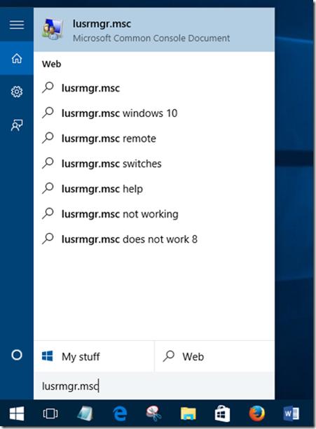 Crear cuenta de usuario invitado en Windows 10 step1