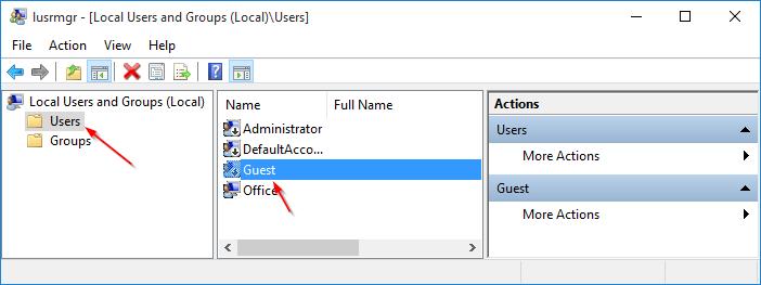 Crear cuenta de usuario invitado en Windows 10 step3