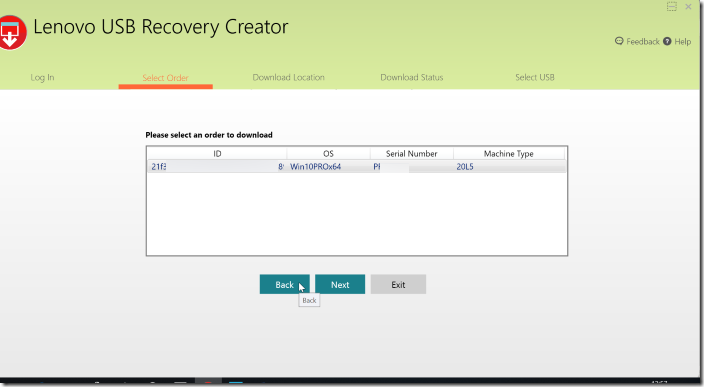 Create Lenovo Recovery USB pic04