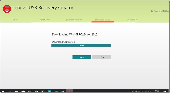 Create Lenovo Recovery USB pic08