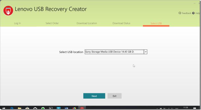 Create Lenovo Recovery USB pic09