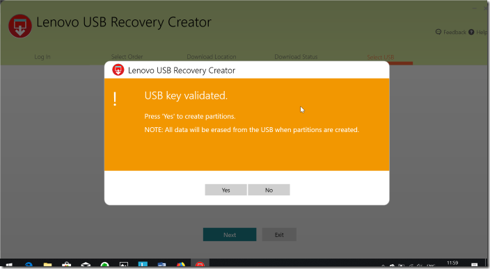 Create Lenovo Recovery USB pic11