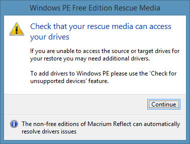 Create Macrium Reflect Rescue Media Step7