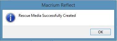 Create Macrium Reflect Rescue Media Step8