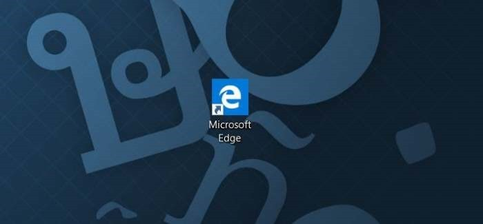 Crear acceso directo de Microsoft Edge en el escritorio en Windows 10