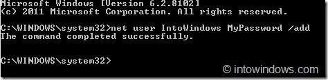 Create User Account From Command Prompt