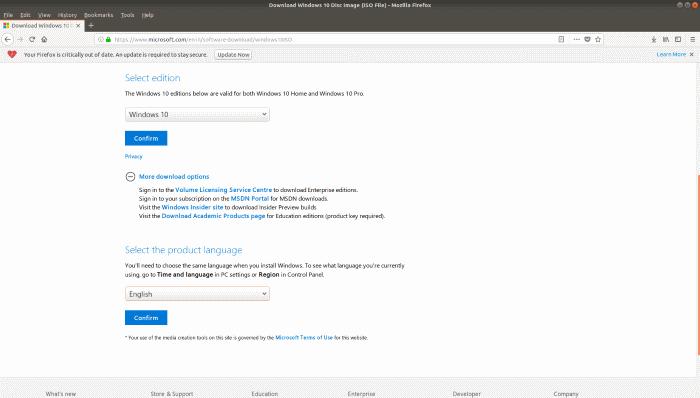Crear Windows 10 USB de arranque en Linux (4)