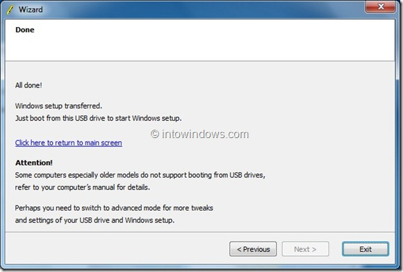 Create Windows 8 Bootable USB Flash Drive step6