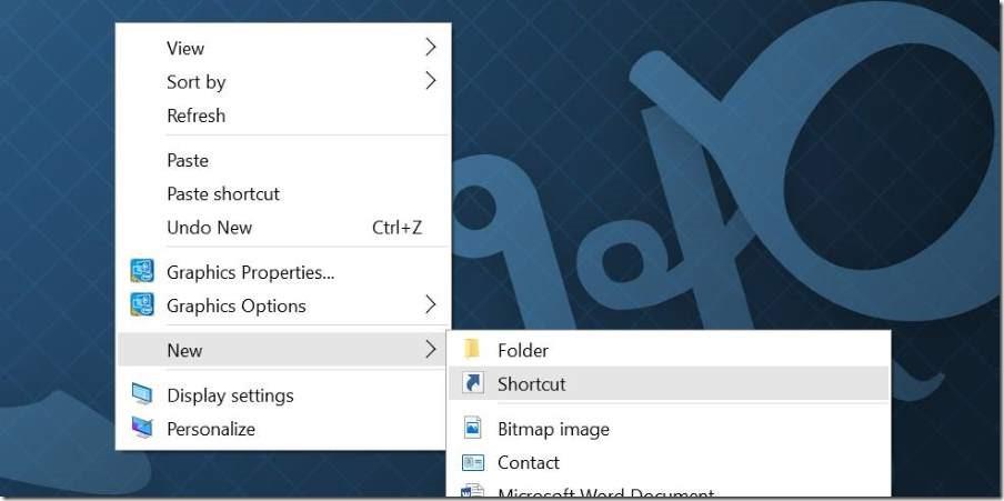 Crear acceso directo al escritorio para la aplicación Settings en Windows 10 pic1