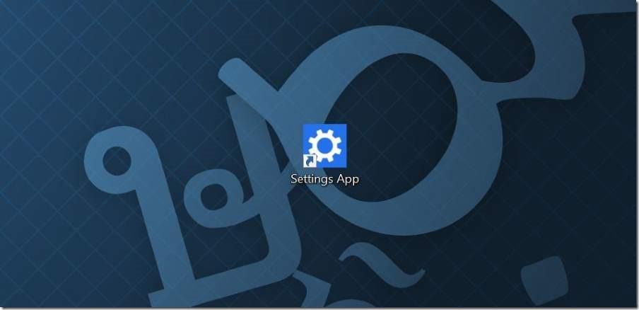Crear acceso directo al escritorio para la aplicación Settings en Windows 10 pic