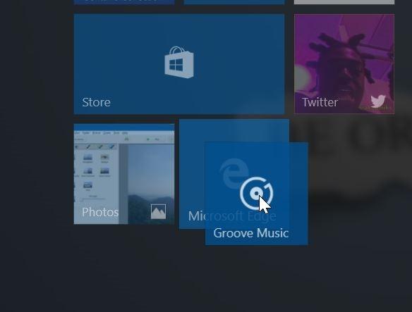 Crear carpetas de aplicaciones en vivo en el menú de inicio Windows 10 pic2
