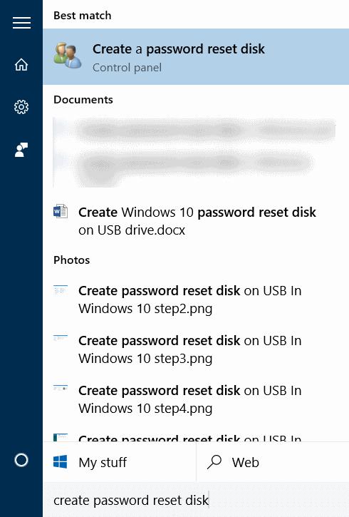 Crear disco de restablecimiento de contraseña en USB En Windows 10 step1