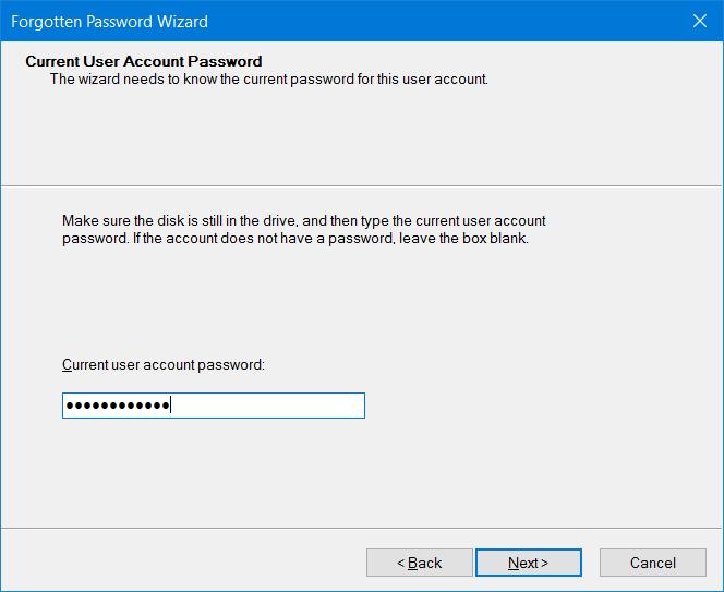 Crear disco de restablecimiento de contraseña en USB en Windows 10 step7