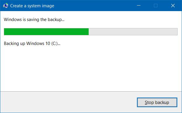 Crear copia de seguridad de la imagen del sistema en Windows 10