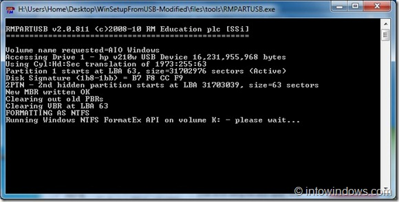Crear unidad flash USB de arranque múltiple con Windows 7 y XP Paso 4C