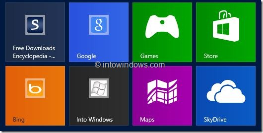 Customize Start Screen In Windows 8 Step4
