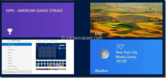 Customize Start Screen In Windows 8 Step5