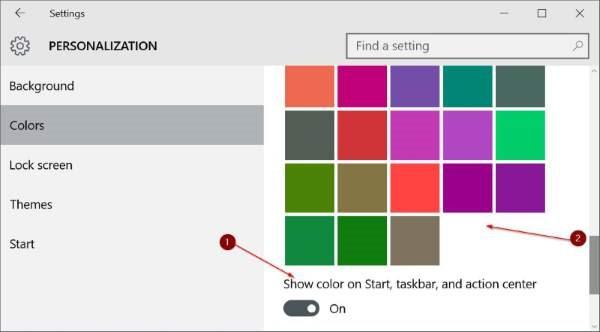 Personalizar pic2 de la barra de tareas de Windows 10