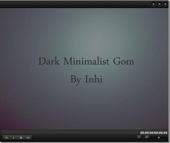 Dark Minimalistic Skin for GOM Media Player