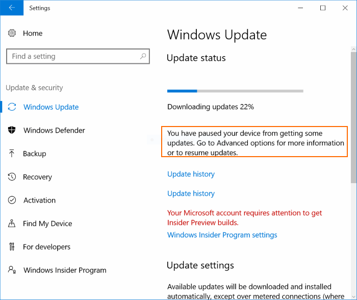 Retrasar o posponer Windows Update Windows 10 (4)
