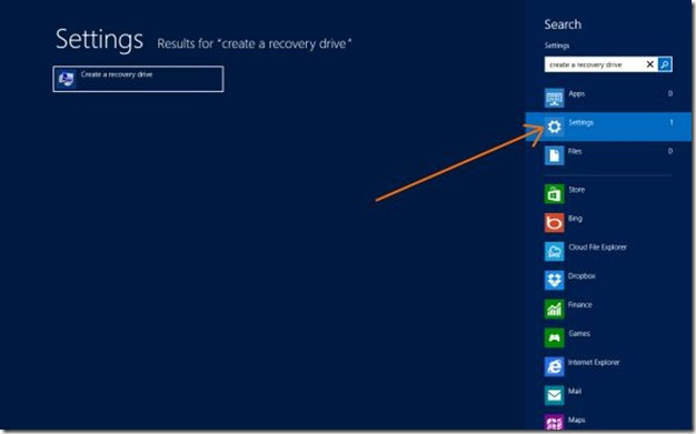 Delete Recovery Partition in Windows 8 Step1