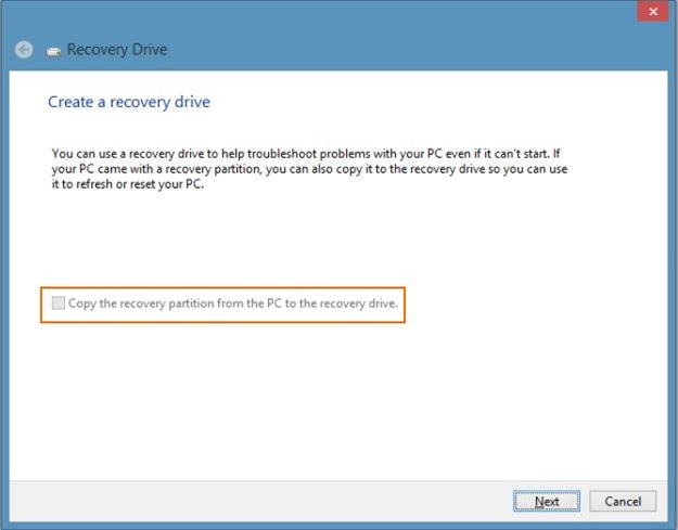 Delete Recovery Partition in Windows 8 Step2