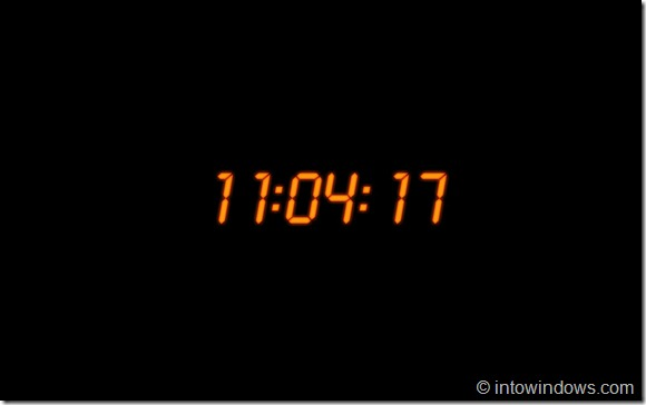 Digital Clock Screen Saver For Windows 7