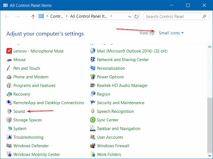 Desactivar sonido de notificación en Windows 10 step6