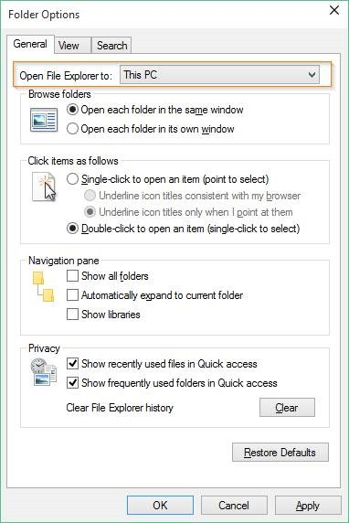 Desactivar acceso rápido en Windows 10 picture2