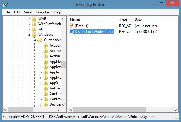 Disable Windows L Keyboard Shortcut In Windows