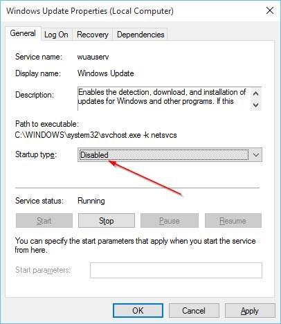 Desactivar Windows Update en Windows 10 Step7