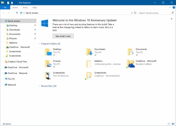Desactivar anuncios en el Explorador de archivos en Windows 10 pic1