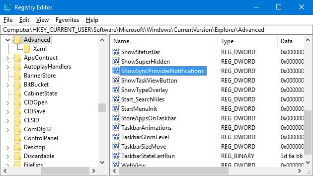 Desactivar anuncios en el Explorador de archivos en Windows 10 pic4