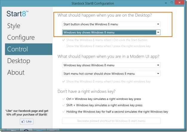 Disable or Hide Start Button In Windows 8 Picture1
