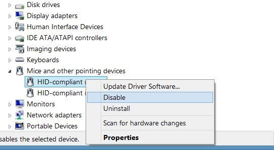 Desactivar panel táctil en Windows step4